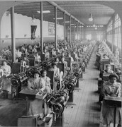 During the 1800s ONLY woman and children worked in factorys