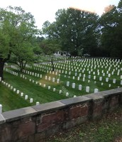 All the graves for soldiers and veterans