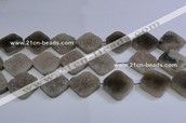 Natural grey agate gemstone beads