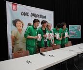 Zayn, Louie, Harry, Niall, and Liam.