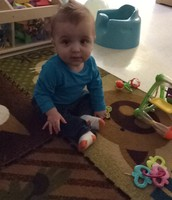 James sitting up all by himself