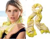 Citron Floral Scarf Reg $59 50% sale $30