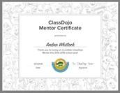 2015-Present Class Dojo Mentor Teacher