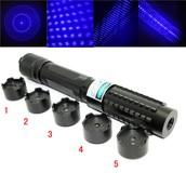 Sterke blauwe laser zaklamp 10000mW Instelbare focus