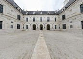 Chateau; View of courtyard