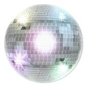 a disco ball and karaoke machine