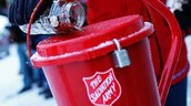 Riverview Staff Bell Ringing for the Salvation Army