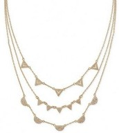 Gold Pavron Chevron Necklace