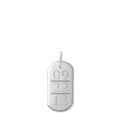 Signature Engravable ID Tag with Anniversary Date ($36)