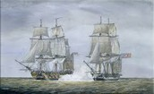 deadly attack by the British frigate HMS Leopard upon USS Chesapeake in 1807