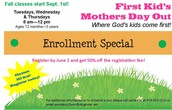 First Kids MDO is registering for FALL