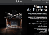 Dior online boutique for cosmetics and fragrance