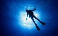 An underwater diver