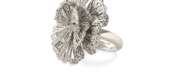 Geneve Lace Ring - Silver Adjustable Sizing