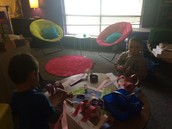 PK Students Learning about 1 to 1 Math Correspondence