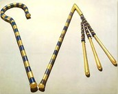 crook( left )and flail( right )