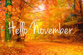 Mark Your Calendar - November