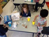 Building structures out of marshmallows and pretzels