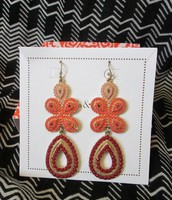 Capri Chandelier Earrings- Coral
