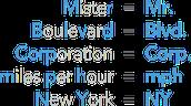 abreviaciòn-abbreviation