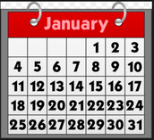 5. Add the following dates to your family 2016 calendar: