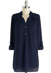 Pam Breeze-ly Tunic in Navy