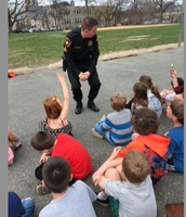 Officer Gosewish answering questions.