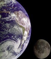the Earth moon