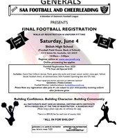 Shiloh Athletic Association Football/Cheer Registration
