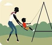 Swinging child!