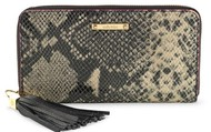 Mercer Zip Wallet -Black Snakeskin