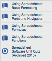 #1. Spreadsheet Software on Learning.com