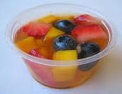 una taza de fruta
