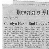 Carolyn Hax  : Bad Lady's Man