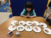 Counting by tens using pennies