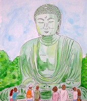 Art work inspired by the Great Buddha