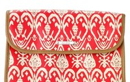 Hang On Travel Case - Red Ikat - SOLD