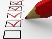 Principals' Checklist