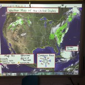 Combining our weather knowledge and map skills...