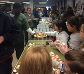 Mr. Dake's 3rd Grade Class serving lunch to the homeless.
