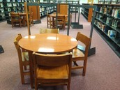 Round tables relocated from Reference and Fiction