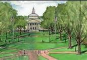 UNC chapel Hill Campus Sketch