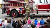 Early Childhood Center hosts LIttle Dixie Fire Dept.
