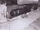 Little Boy Bomb in Bombing Pit