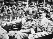 בניטו מוסוליני יחד עם היטלר