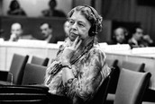 Eleanor Roosevelt at an united Nations meeting
