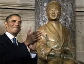 1. Monument built of Rosa Parks in D.C.
