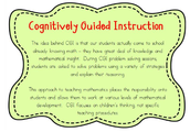 Cognitively Guided Instruction incorporated into Math Workshop