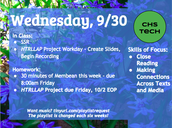 Wednesday, 9/30