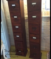 Pair of 6-Drawer Wood Tower - $95 each